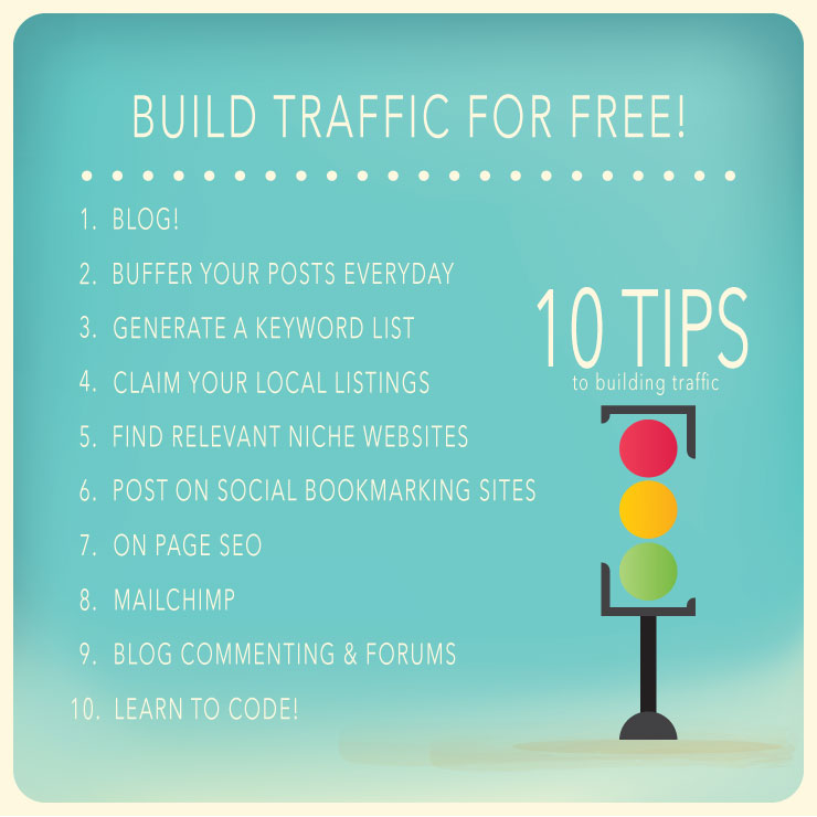 10 tips to build traffic for free