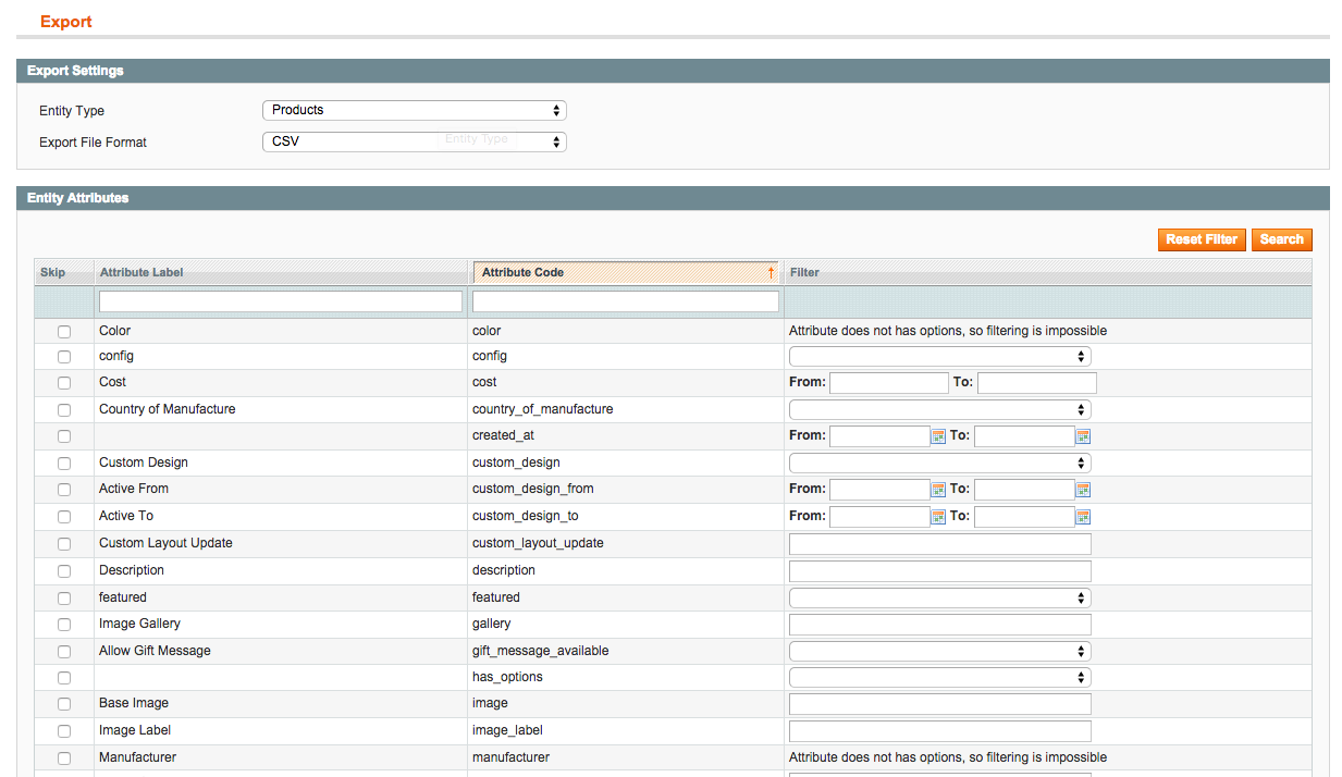 Uploading Products to Magento With A Product CSV Excel File - Trellis