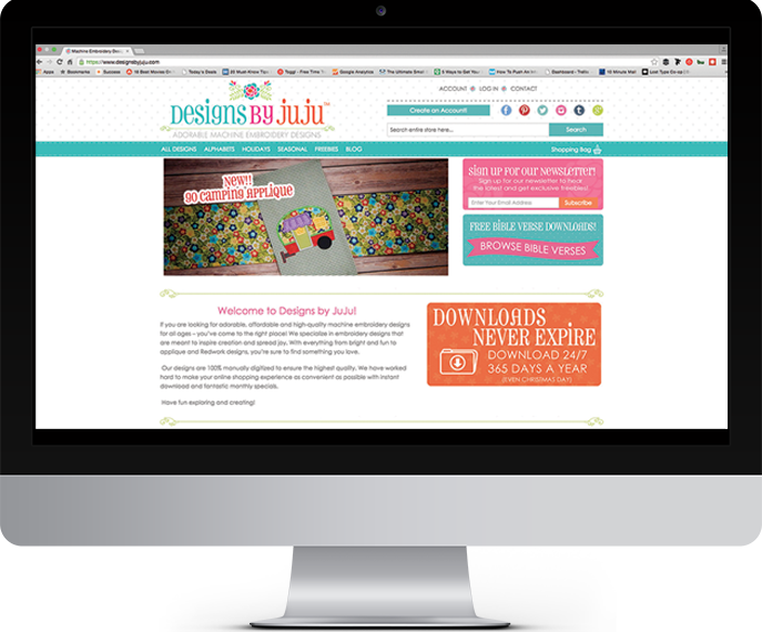 designs by juju Magento Website