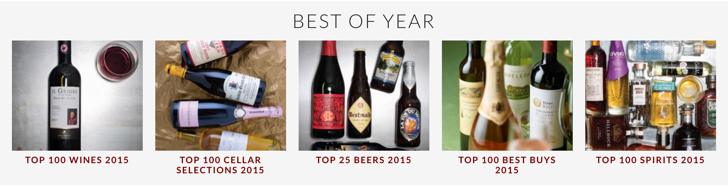 Wine Enthusiast Best of Year