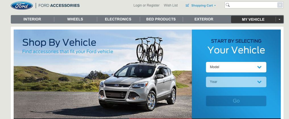 ford accessories magento site
