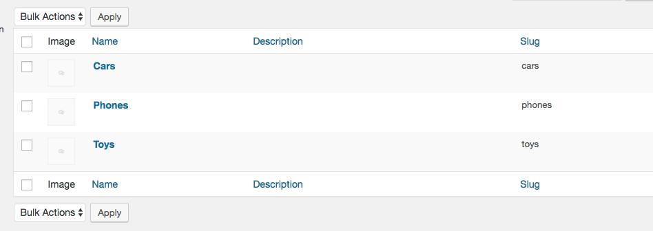 WooCommerce Categories