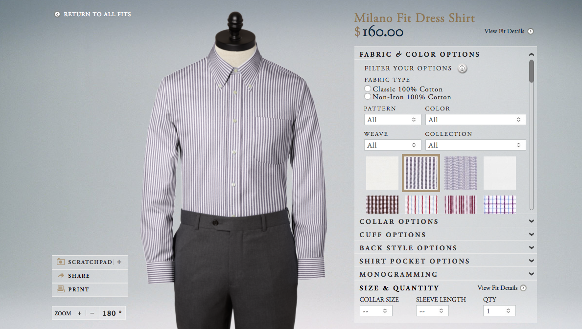 brooks brothers product customizer