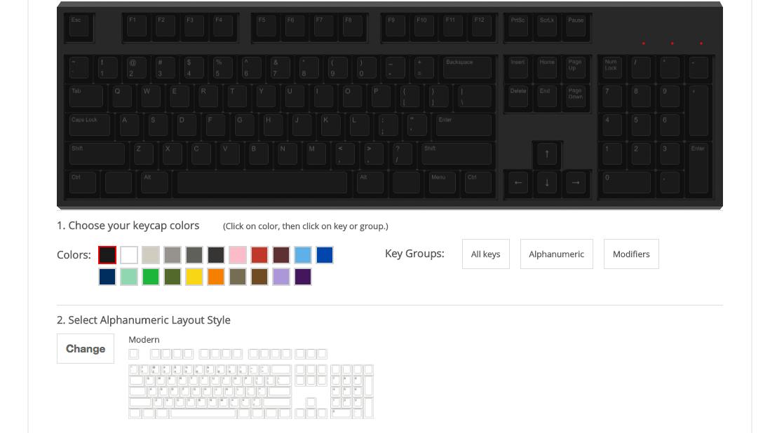 wasd keyboard product customizer
