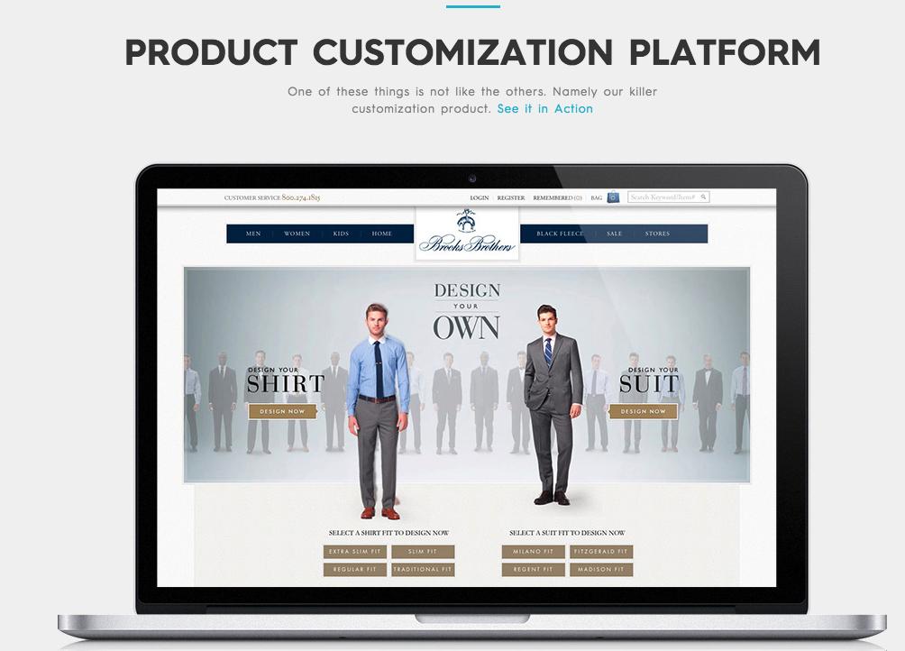 fluid product customizer