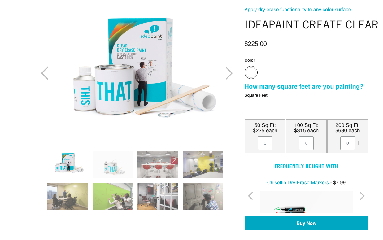 idea paint product page